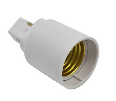 adapter fassung g24 auf e27 f r leuchtmittel adapterfassung fassungen beleuchtung. Black Bedroom Furniture Sets. Home Design Ideas