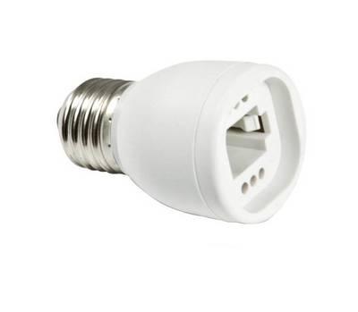 adapter fassung e27 auf g23 g24 f r leuchtmittel adapterfassung fassungen beleuchtung. Black Bedroom Furniture Sets. Home Design Ideas